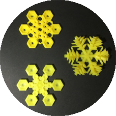 Snowflake 3D models made for michelle quinn